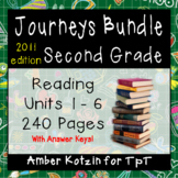 2nd Grade Journeys Bundle: Units 1 - 6 Supplemental Activities © 2011