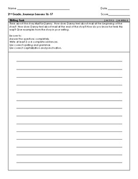 2nd Grade Journeys Common Assessment Lessons 16-17 Tennessee standards