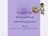 2nd Grade Journeys Daily Writing Prompts- Unit 2