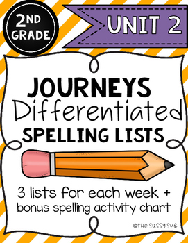 2nd Grade Journeys: Differentiated Spelling Lists for Unit 2
