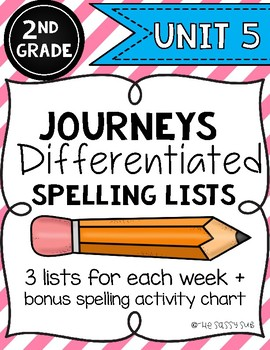 2nd Grade Journeys: Differentiated Spelling Lists for Unit 5