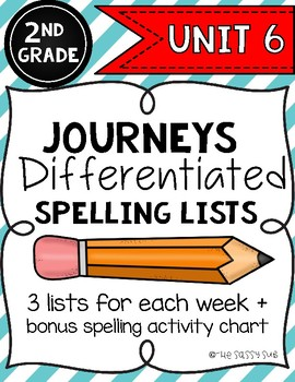 2nd Grade Journeys: Differentiated Spelling Lists for Unit 6