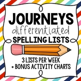 2nd Grade Journeys: Differentiated Spelling Lists for the Year Bundle