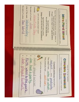 2nd Grade Journeys Grammar Notebook Unit 2