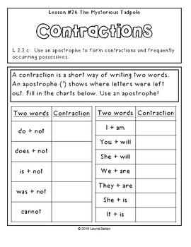 2nd Grade Journeys Grammar Notebook Unit 6