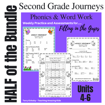 2nd Grade Journeys: HALF BUNDLE - Units 4-6: Phonics & Word Work