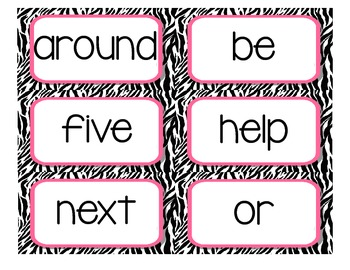2nd Grade Journeys High Frequency / Sight Word Cards for Word Wall