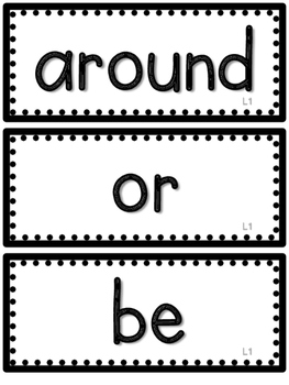 2nd Grade Journeys High Frequency Words- All 30 Lessons-Black