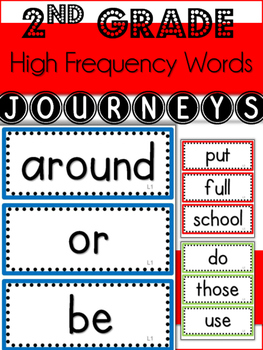 2nd Grade Journeys High Frequency Words- All 30 Lessons- (