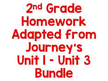 2nd Grade Journeys Homework Bundle