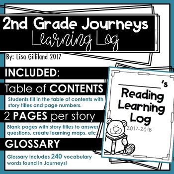 2nd Grade Journeys Learning Log
