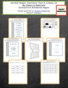 2nd Grade Journeys Lesson 18 Interactive Notebook Pages