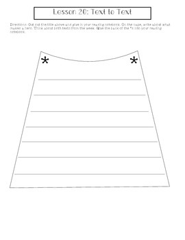 2nd Grade Journeys Lesson 20 Interactive Notebook Pages