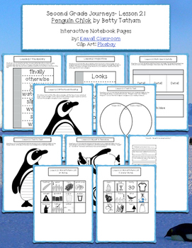 2nd Grade Journeys Lesson 21 Interactive Notebook Pages