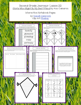 2nd Grade Journeys Lesson 22 Interactive Notebook Pages
