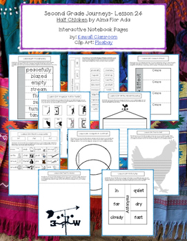 2nd Grade Journeys Lesson 24 Interactive Notebook Pages