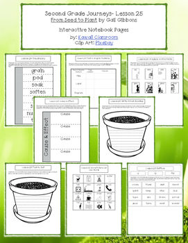 2nd Grade Journeys Lesson 25 Interactive Notebook Pages