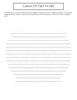 2nd Grade Journeys Lesson 29 Interactive Notebook Pages