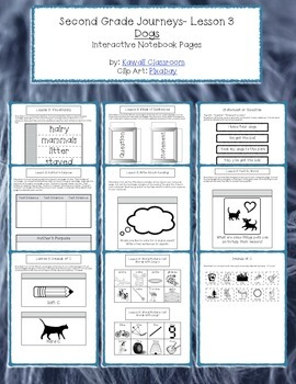 2nd Grade Journeys Lesson 3 Interactive Notebook Pages