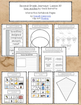 2nd Grade Journeys Lesson 30 Interactive Notebook Pages