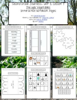2nd Grade Journeys Lesson 7 Interactive Notebook Pages