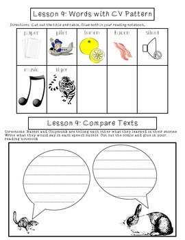 2nd Grade Journeys Lesson 9 Interactive Notebook Pages