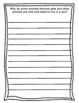 2nd Grade Journeys - Lesson one journal response packet