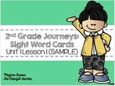 2nd Grade Journeys Sight Word Cards (SAMPLE)