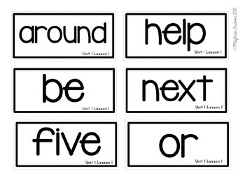 2nd Grade Journeys Sight Word Cards (SAMPLE)
