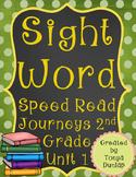 2nd Grade Journeys Sight Word Speed Read, Unit 1