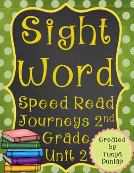 2nd Grade Journeys Sight Word Speed Read, Unit 2