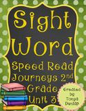 2nd Grade Journeys Sight Word Speed Read, Unit 3