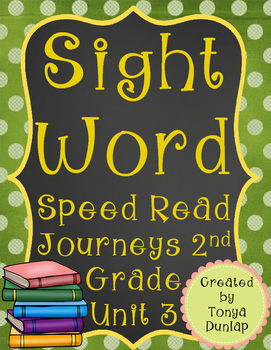 2nd Grade Journeys Sight Word Speed Read, Unit 3