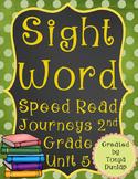 2nd Grade Journeys Sight Word Speed Read, Unit 5