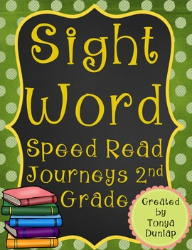 2nd Grade Journeys Sight Word Speed Read, Units 1-6 Bundle