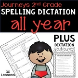 2nd Grade Journeys Spelling Dictation Quizzes BUNDLE - ALL YEAR!