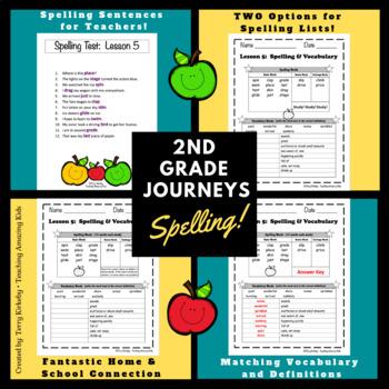 2nd Grade Journeys:  Spelling & Vocabulary