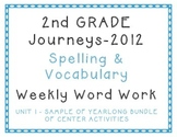 2nd Grade Journeys 2012 Spelling Vocabulary Centers SAMPLE Yearlong Bundle