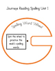 2nd Grade Journeys Spelling Wheels for Unit 1 Lessons 1-5