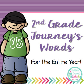 2nd Grade Journey's Spelling Words and High Frequency Words
