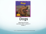 2nd Grade Journeys Unit 1 Lesson 3, Dogs