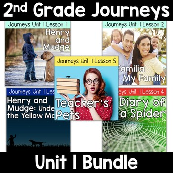 2nd Grade Journeys Unit 1: Lessons 1-5 Supplemental Resource BUNDLE