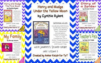 2nd Grade Journeys: Unit 1 Supplemental Activities © 2011