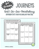 *50% Off Sunday and Monday* 2nd Grade Journeys, Unit 1 Tic