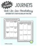 2nd Grade Journeys, Unit 1 Tic-Tac-Vocabulary