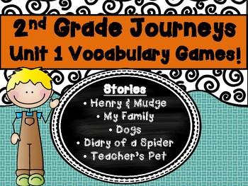 2nd Grade Journeys Unit 1 Vocabulary Center Game!  Lesson 1, 2, 3, 4, 5