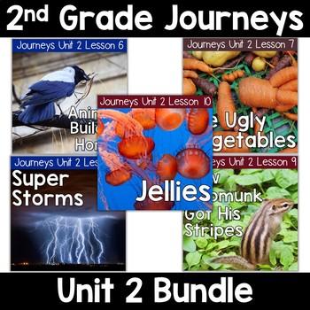 2nd Grade Journeys Unit 2: Lessons 6-10 Supplemental Resource BUNDLE