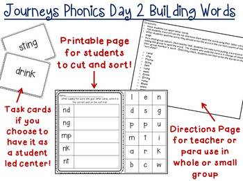 2nd Grade Journeys Unit 2 Phonics Building Words Day 2