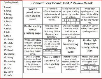 2nd Grade Journeys: Unit 2 Review Week