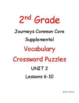 2nd Grade Journeys Unit 2 Vocabulary Crossword Puzzles